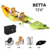 Каяк надувной Aqua Marina Betta 13'6″, 2021, BE-412